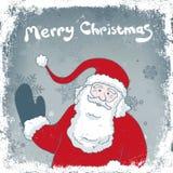 Tarjeta de la vendimia de la Navidad. Fotografía de archivo libre de regalías