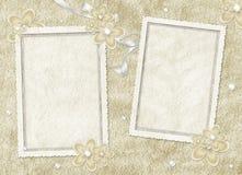 Tarjeta de la vendimia de las flores y de la perla Foto de archivo