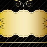 Tarjeta de la vendimia del oro Foto de archivo libre de regalías