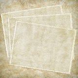 Tarjeta de la vendimia del papel viejo Fotografía de archivo libre de regalías