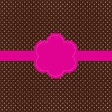 Tarjeta de la vendimia, diseño del punto de polca Imágenes de archivo libres de regalías