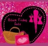 Tarjeta de la venta de Black Friday Imágenes de archivo libres de regalías