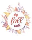 Tarjeta de la venta del otoño Foto de archivo