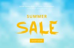Tarjeta de la venta del verano Ilustración del vector Foto de archivo
