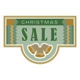 Tarjeta de la venta y del descuento, bandera, aviador Título de la venta de la Navidad Belces, mano dibujada ponen letras a la co Imágenes de archivo libres de regalías