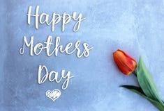 Tarjeta de las celebraciones del día de madres Imágenes de archivo libres de regalías