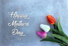 Tarjeta de las celebraciones del día de madres Fotos de archivo libres de regalías