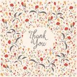 Tarjeta de las gracias Foto de archivo libre de regalías