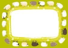 Tarjeta de las ovejas Fotografía de archivo libre de regalías