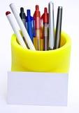 Tarjeta de las plumas Imagen de archivo libre de regalías