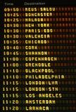 Tarjeta de las salidas del aeropuerto. Fotos de archivo libres de regalías