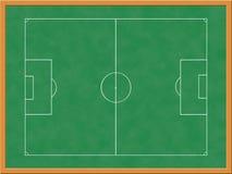 Tarjeta de las táctica del fútbol stock de ilustración