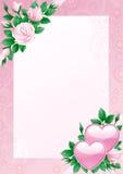 Tarjeta de las tarjetas del día de San Valentín Fotografía de archivo libre de regalías