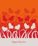 Tarjeta de las tarjetas del día de San Valentín Fotografía de archivo