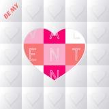 Tarjeta de las tarjetas del día de San Valentín Fotos de archivo
