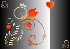 Tarjeta de las tarjetas del día de San Valentín Fotos de archivo libres de regalías