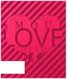 Tarjeta de las tarjetas del día de San Valentín del amor Foto de archivo libre de regalías