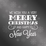 Tarjeta de letras de la Feliz Navidad Fotografía de archivo libre de regalías