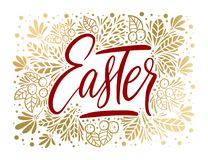 Tarjeta de letras del vector de Pascua Imagenes de archivo