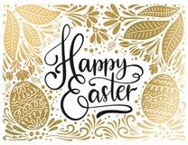 Tarjeta de letras del vector de Pascua Foto de archivo libre de regalías