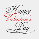 Tarjeta de letras feliz de día de las tarjetas del día de San Valentín Fotografía de archivo