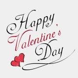 Tarjeta de letras feliz de día de las tarjetas del día de San Valentín Imagen de archivo libre de regalías