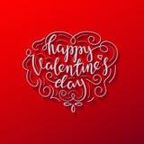Tarjeta de letras feliz de día de las tarjetas del día de San Valentín libre illustration