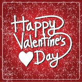 Tarjeta de letras feliz del día de la tarjeta del día de San Valentín, ejemplo del vector Imagenes de archivo
