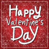 Tarjeta de letras feliz del día de la tarjeta del día de San Valentín, ejemplo del vector Foto de archivo libre de regalías