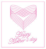 Tarjeta de letras feliz del día de madres Fotos de archivo