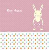 Tarjeta de llegada del bebé Fotos de archivo libres de regalías