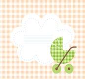 Tarjeta de llegada del bebé Fotografía de archivo libre de regalías