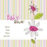 Tarjeta de llegada del bebé Imagen de archivo libre de regalías