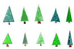 Tarjeta de los árboles de navidad Foto de archivo libre de regalías