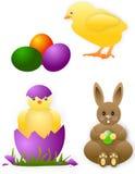 Tarjeta de los animales de Pascua Foto de archivo libre de regalías