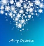 Tarjeta de los copos de nieve de la Navidad - Feliz Navidad Imágenes de archivo libres de regalías