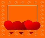 Tarjeta de los corazones de la tarjeta del día de San Valentín Fotografía de archivo