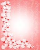 Tarjeta de los corazones de la tarjeta del día de San Valentín Imágenes de archivo libres de regalías