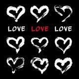 Tarjeta de los corazones de la tinta Fotografía de archivo libre de regalías