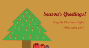 Tarjeta de los días de fiesta de la Navidad Imagenes de archivo