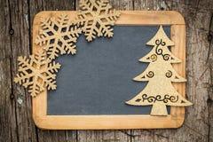 Tarjeta de los días de fiesta de Navidad Foto de archivo libre de regalías