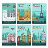 Tarjeta de los destinos del viaje libre illustration