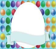Tarjeta de los huevos de Pascua Fotos de archivo libres de regalías