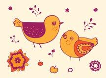 Tarjeta de los pájaros Foto de archivo libre de regalías