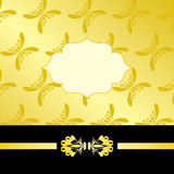 Tarjeta de lujo del oro Foto de archivo