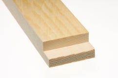 Tarjeta de madera con el borde aserrado Imagen de archivo libre de regalías