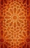 Tarjeta de madera, con la decoración del corte. Fondo místico. Fotografía de archivo