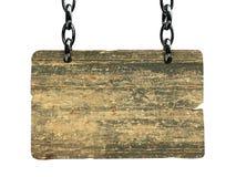 Tarjeta de madera de la muestra Imagen de archivo libre de regalías