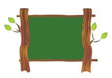 Tarjeta de madera de la muestra Imágenes de archivo libres de regalías