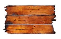 Tarjeta de madera socarrada Imagen de archivo libre de regalías